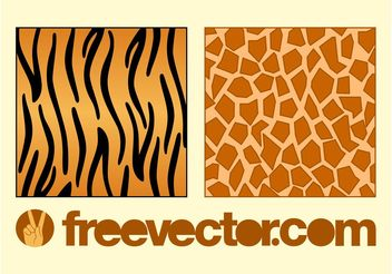Animal Fur Patterns - Free vector #144115