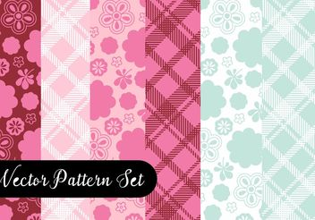 Lovely Pattern Set - Free vector #144145