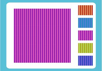 Vertical Stripe Patterns - Free vector #144215