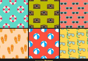 Beach Summer Colourful Patterns - Free vector #144305