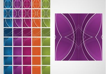 Colorful Tiles Vector - Free vector #144345