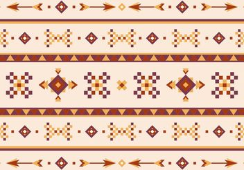Native American Vector Pattern With Arrows - Free vector #144415