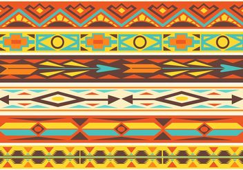 Free Native American Pattern Vector Borders - vector #144445 gratis