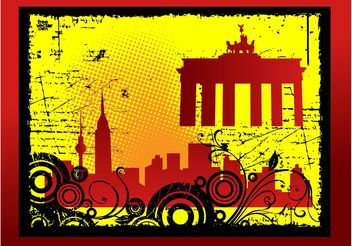 Grunge City Card - Free vector #144635