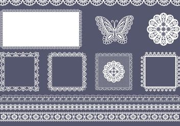 Free Vector Square And Border Doily - Kostenloses vector #144665