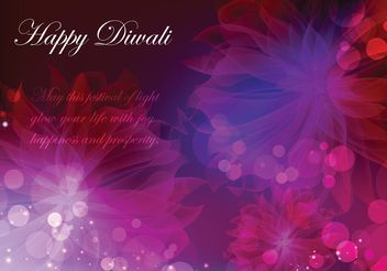 Happy Diwali Vector Background - vector gratuit #144695