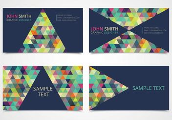 Free Trendy Triangle Business Card Templates - бесплатный vector #144705