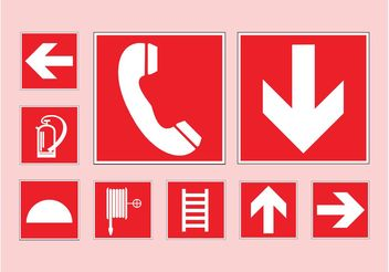 Emergency Symbols - vector gratuit #144745