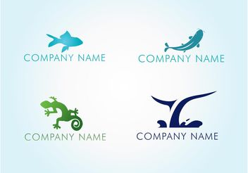 Water Animal Logos - vector gratuit #144775