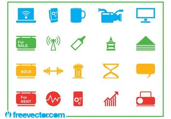Icons Vector Graphics Set - vector #144815 gratis