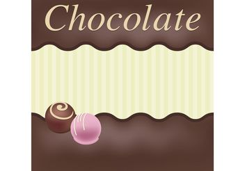 Chocolate Vector Card - Free vector #144835