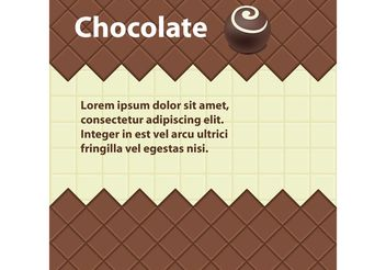 Chocolate Vector Background - Free vector #144845