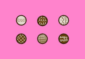 Chocolate Truffle Vector Designs Set - vector gratuit #144865