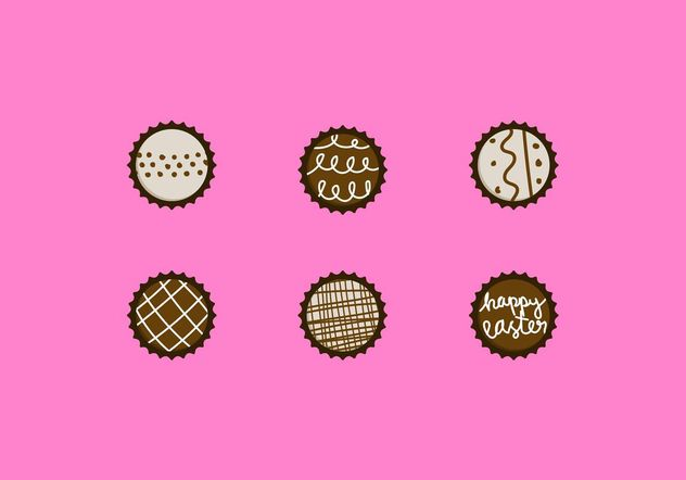Chocolate Truffle Vector Designs Set - Free vector #144865