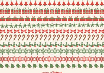 Christmas Border Vectors - vector gratuit #144875