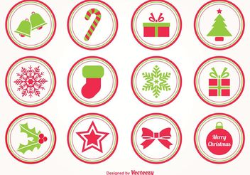 Christmas Vector Stamps - Free vector #144935