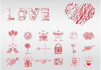 Love Elements - vector gratuit #144975