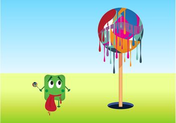 Dripping Lollipop Tree - Free vector #144995