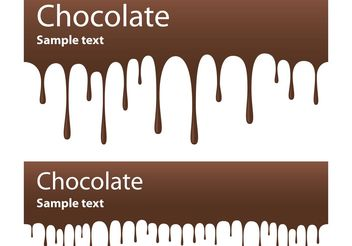 Chocolate Banner Vectors - бесплатный vector #145015