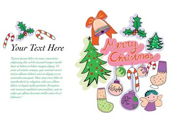 Free Vector Christmas Greeting Card - Kostenloses vector #145025