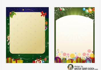 Christmas Poster Templates - Free vector #145035