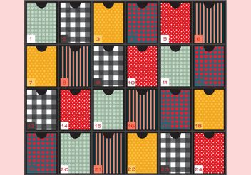 Patterned Advent Calendar - vector gratuit #145065