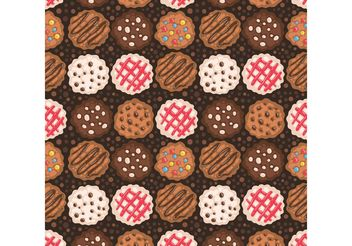 Free Chocolate Chip Cookies Pattern Vector - Free vector #145075