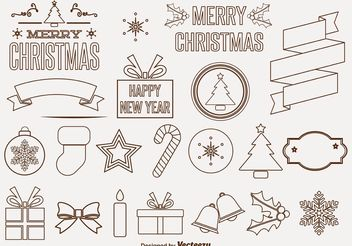 Decorative Christmas Vector Ornaments - vector gratuit #145085