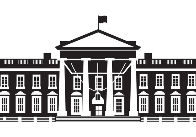 The White House Vector - vector gratuit #145115