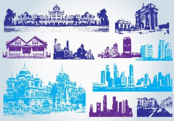 Buildings Clip Art - vector gratuit #145135