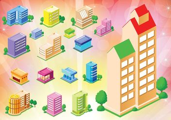Free Buildings Houses Icons - Kostenloses vector #145145