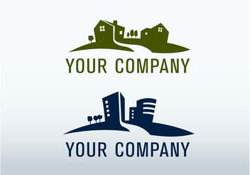 Real Estate Logo - Free vector #145195