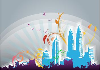 Fantasy City - Free vector #145275