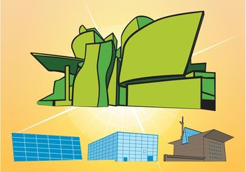 Buildings Vectors - бесплатный vector #145315