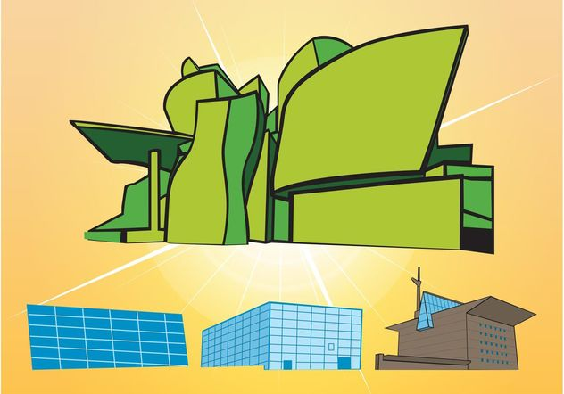 Buildings Vectors - Free vector #145315