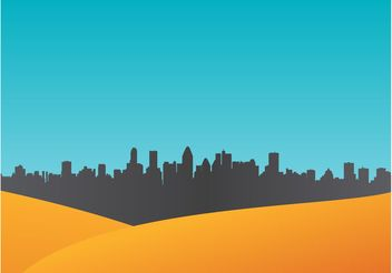Urban Vector Background - Free vector #145345
