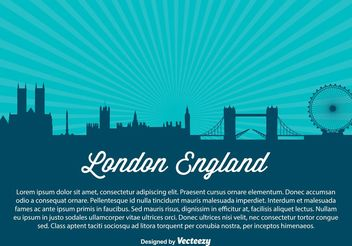 London City Skyline Illustration - vector gratuit #145415