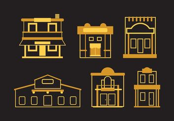Old West Town Vectors - vector gratuit #145425