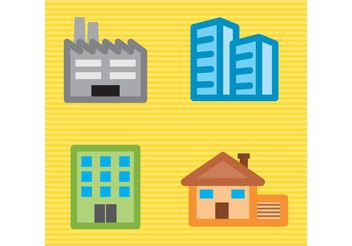 Construction Vector Buildings Pack - vector gratuit #145445