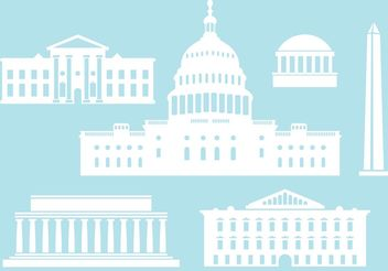 Buildings from US Capital City. - бесплатный vector #145465