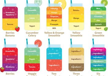 Smoothie Vector Recipes - vector gratuit #145575
