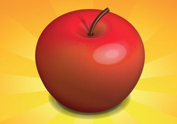 Free Realistic Apple Vector - Free vector #145595