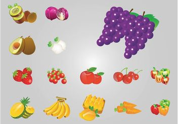 Fruit Icons - vector gratuit #145625
