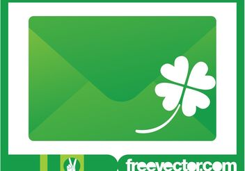 Envelope And Clover Vector - vector gratuit #145635