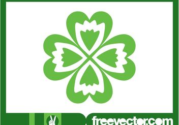 Four-Leaf Clover Graphics - vector gratuit #145665