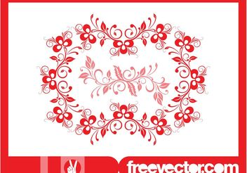 Floral Wreath Graphics - Free vector #145795