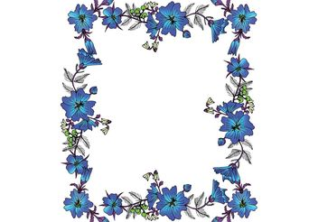 Free Vector Floral Frame - Kostenloses vector #145805