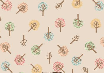 Seasonal Tree Pattern - vector gratuit #145865