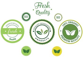 Free Vector Bio Label Vector Set - vector gratuit #145895