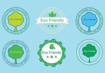 Free Eco Friendly Badges - Kostenloses vector #145945